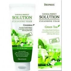 Пенка для умывания зеленый чай Natural Perfect Solution Cleansing Foam Greentea DEOPROCE