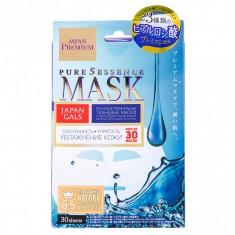 Japan Gals Pure5 Essence Premium Маска для лица c тремя видами гиалуроновой кислоты 30 шт