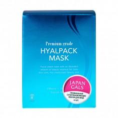 Japan Gals Premium Grade Hyalpack Курс масок для лица Суперувлажнение 12 шт