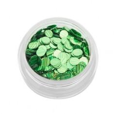 TNL, Пайетки для ногтей «Кошачий глаз» - зеленые №3 TNL Professional