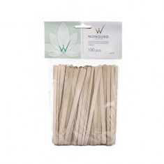 Italwax, Шпатели деревянные малые, 100 шт. White Line