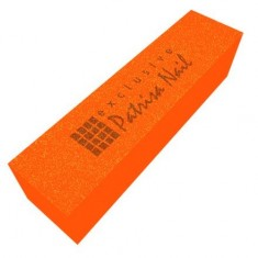 Patrisa Nail, Шлифовочный блок, неоновый оранжевый, 180/240
