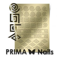 Prima Nails, Металлизированные наклейки GM-01, золото