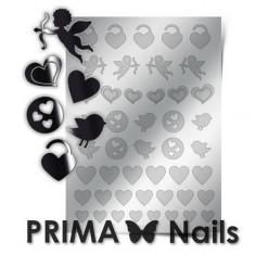 Prima Nails, Металлизированные наклейки LV-02, серебро
