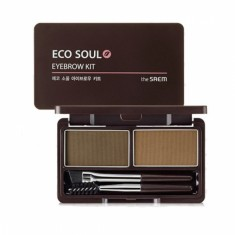 пудра для бровей the saem eco soul eyebrow kit