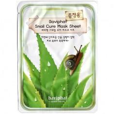 маска тканевая улиточная  baviphat snail cure mask sheet