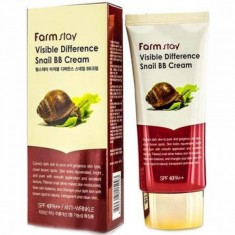 восстанавливающий бб крем с экстрактом улитки farmstay visible difference snail bb cream spf40 pa+++