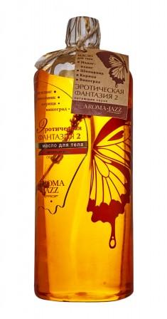 AROMA JAZZ Масло массажное жидкое для тела Романтическая фантазия для двоих 1000 мл