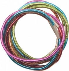 DEWAL PROFESSIONAL Резинки для волос цветные блестящие midi 10 шт/уп