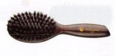 HAIRWAY Щетка Venge 9-рядная деревянная натуральная щетина круглая большая