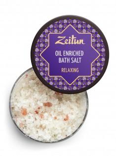 Антистрессовая соль для ванн с маслами лаванды, эвкалипта и можжевельника