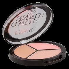 Набор для макияжа EVELINE CONTOUR SENSATION 3 в 1 тон 01 Pink Beige