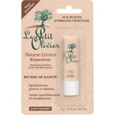 LE PETIT OLIVIER Бальзам для губ восстанавливающий с маслом Карите 4 г