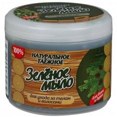 Флоресан натуральное мыло для бани и душа таежное зеленое 450г Floresan