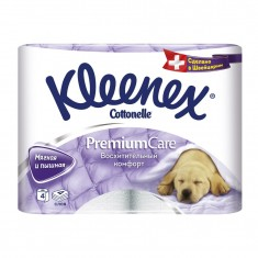 Kleenex Туалетная бумага Премиум Комфорт 4 слоя 4шт