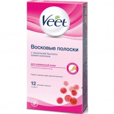 Veet полоски восковые для депиляции для нормальной кожи N12