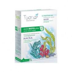 Teana/Теана Песня семи морей Альгинатная энергетическая тонизирующая маска с Женьшенем, витамином С и Миоксинолом 30грх5шт