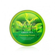 Крем очищающий с экстрактом зеленого чая для лица, 300 г (Deoproce)