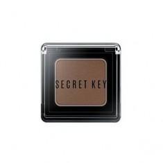Тени моно для век, тон Bitter choco brown, 3,8 г (Secret Key)