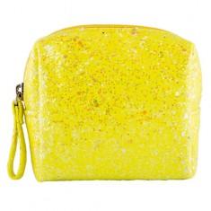 Косметичка LADY PINK SHINE ON glitter small size желтая