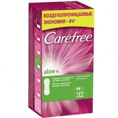 Прокладки ежедневные CAREFREE Aloe воздухопроницаемые 32 шт