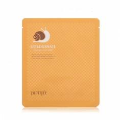 гидрогелевая маска для лица с экстрактом слизи улитки petitfee gold snail hydrogel mask pack
