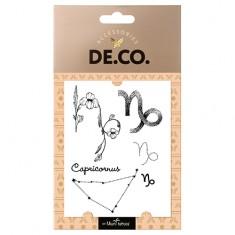 Татуировка для тела DE.CO. ZODIAC by Miami tattoos переводная Козерог