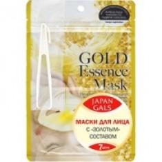 Japan Gals - Маски для лица с золотым составом, 7 шт.