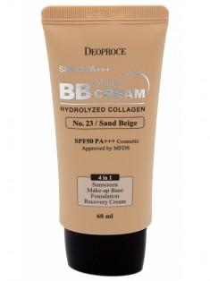 крем бб с коллагеном и гиалуроновой кислотой deoproce magic bb cream spf50+ pa+++