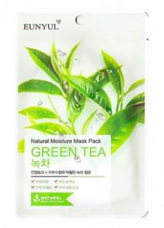 Тканевая маска с зеленым чаем EUNYUL Natural moisture mask pack green tea 23мл