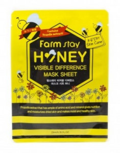 Маска с медом и прополисом FARMSTAY Honey visible difference mask sheet 23 мл