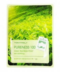 Маска для лица с зеленым чаем TONY MOLY Pureness 100 green tea mask sheet 21 мл