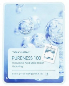 Тканевая маска для лица с гиалуроновой кислотой TONY MOLY Pureness 100 hyaluronic acid mask sheet 21мл