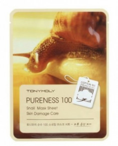 Маска для лица с улиточным муцином TONY MOLY Pureness 100 snail mask sheet 21 мл