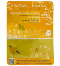Маска для лица с экстрактом пчелиного маточного молока JAYEONMAPPING Royaljelly essence mask 24 гр