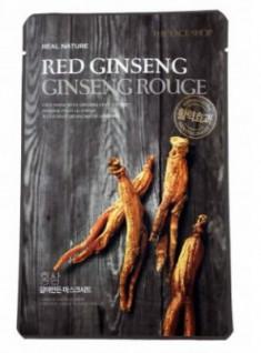 Маска с экстрактом красного женьшеня THE FACE SHOP Real mask sheet snow red ginseng 20г