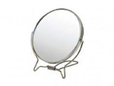 HAIRWAY Зеркало настольное круглое в металической оправе 110 мм