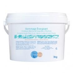 Энергизирующий скраб для тела (с морскими кристаллами и порошком из раковин устриц), 3 кг (Thalaspa)