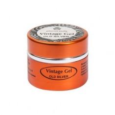 Planet Nails, Гель-паста для чеканки Vintage Gel, Old Silver
