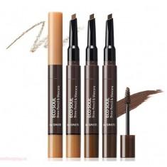 тушь-карандаш для бровей the saem eco soul brow pencil & mascara