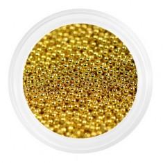 Patrisa Nail, Бульонки металлические мелкие 0,6 мм, золотые