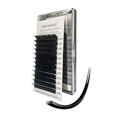 NAGARAKU, Ресницы на ленте Premium Ellips, 14/0,15 мм, D-изгиб