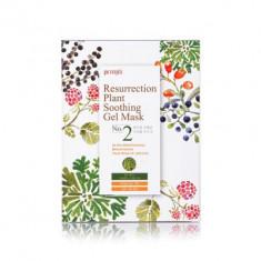 Маска тканевая с растительными экстрактами Petitfee Ressurection Plant Soothing Gel Mask 30г*10
