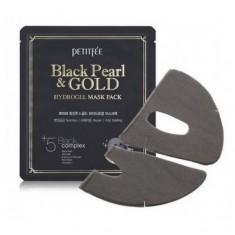 маска для лица гидрогелевая с черным жемчугом и золотом petitfee black pearl & gold hydrogel mask pack
