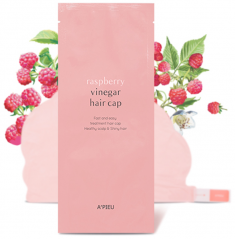 маска для волос a'pieu raspberry vinegar hair cap