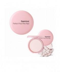 Пудра компактная розовая THE SAEM Saemmul Perfect Pore Pink Pact 11гр