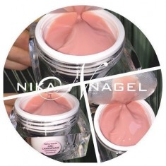 желе камуфляж лавандово-розовый nika nagel 15г