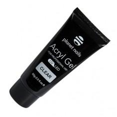 гель planet nails acryl gel прозрачный, 60гр