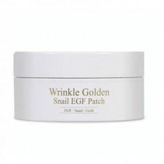 гидрогелевые патчи с egf, золотом и муцином улитки the skin house wrinkle golden snail egf patch