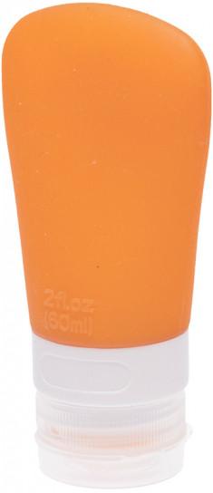 DEWAL BEAUTY Баночка дорожная для путешествий, оранжевая с присоской 60 мл